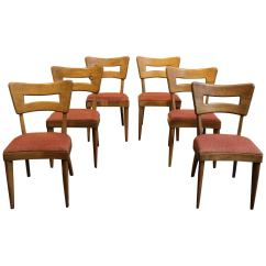 Heywood Wakefield Dogbone Chairs Ikea Bean Bag Chair Set Of Six Iconic Mid Century Modern Dog Bone Dining For Sale At 1stdibs