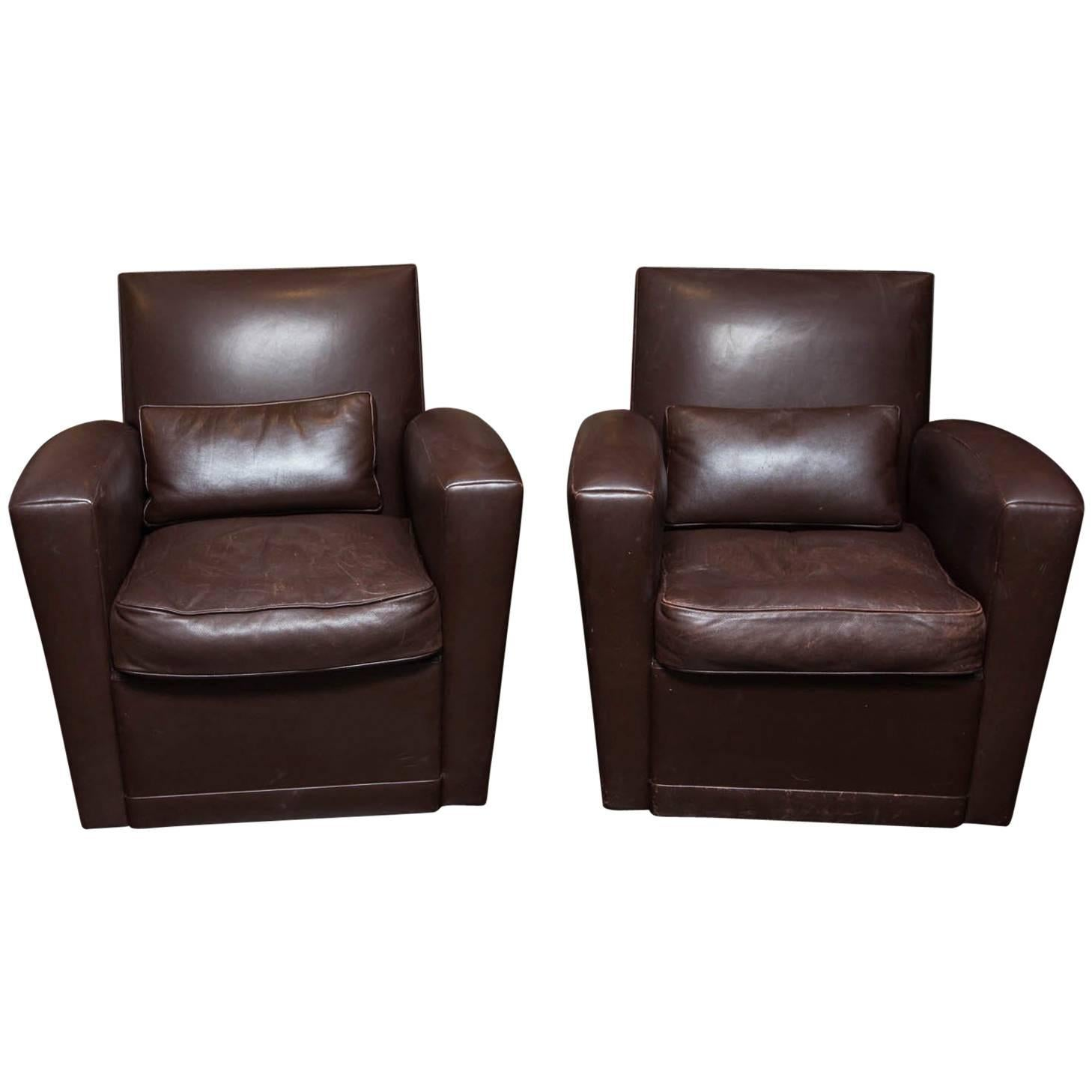 brown swivel chair best baby holly hunt leather chairs at 1stdibs for sale