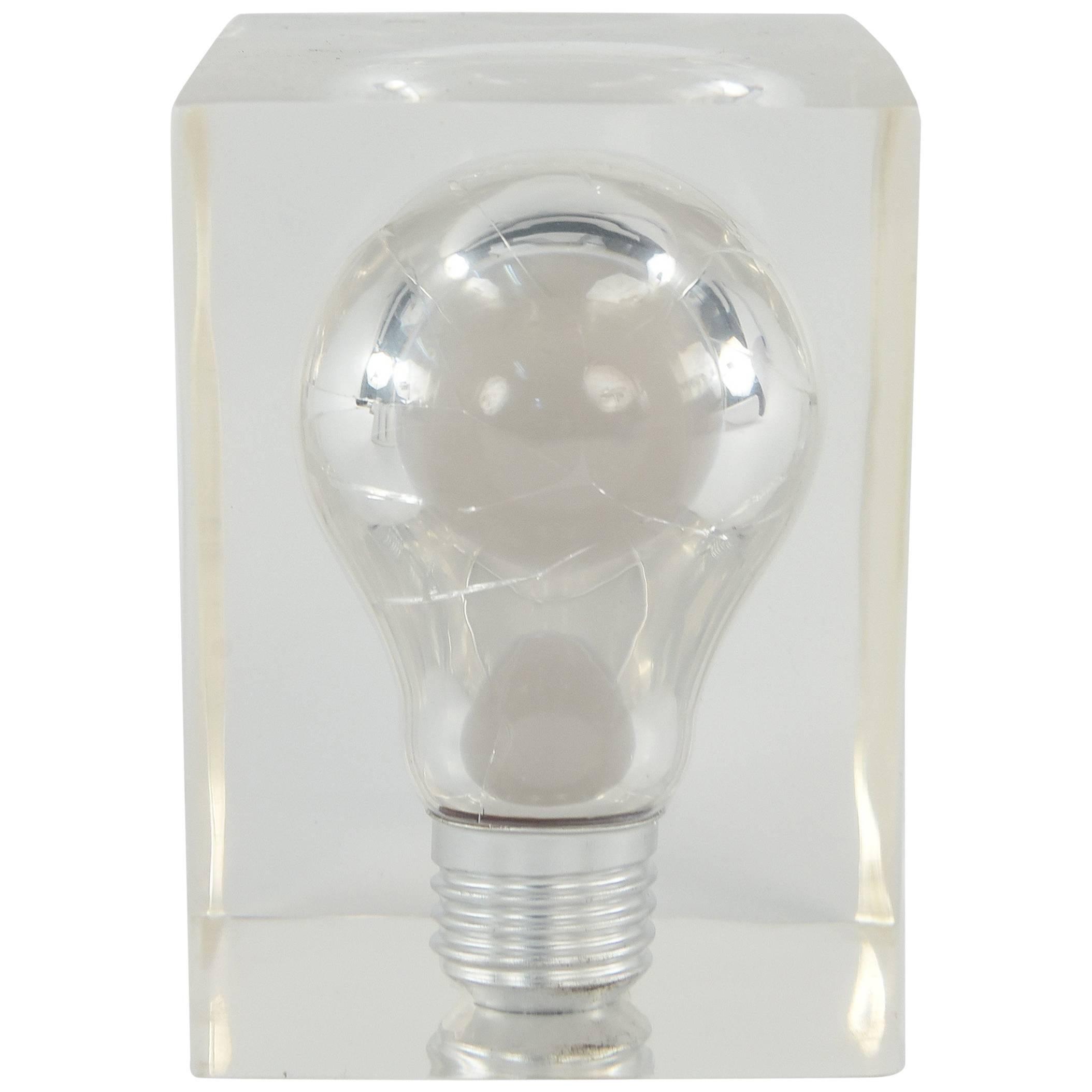 light bulb suspended in