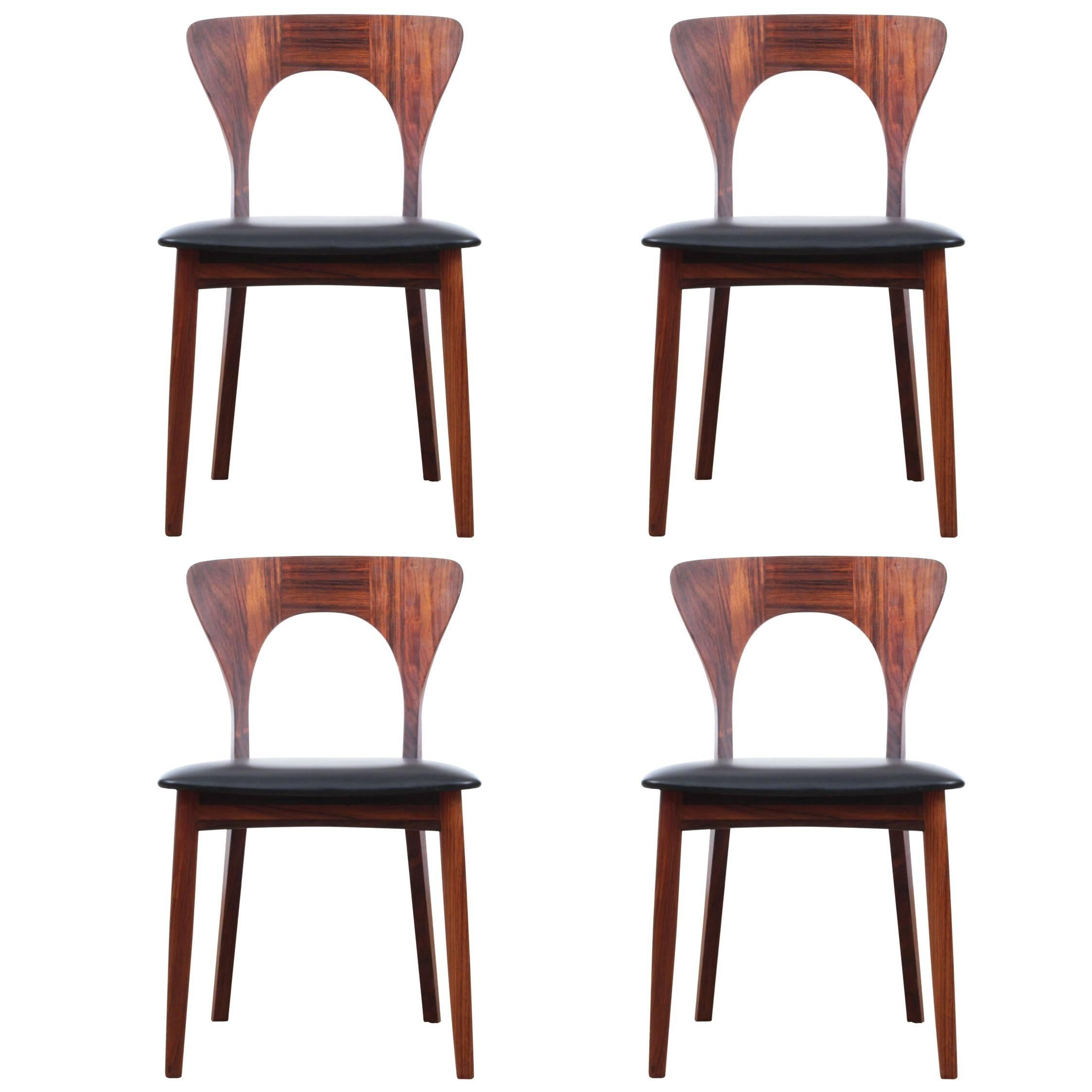 Mid Century Modern Scandinavian Set Of Dining Chairs In