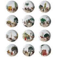 Set of 12 Corteo Porcelain Dinner Plates For Sale at 1stdibs