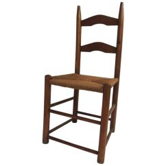 White Ladder Back Chairs Rush Seats Small Stool Chair With Wheels Antique Country Child S Seat For Sale At