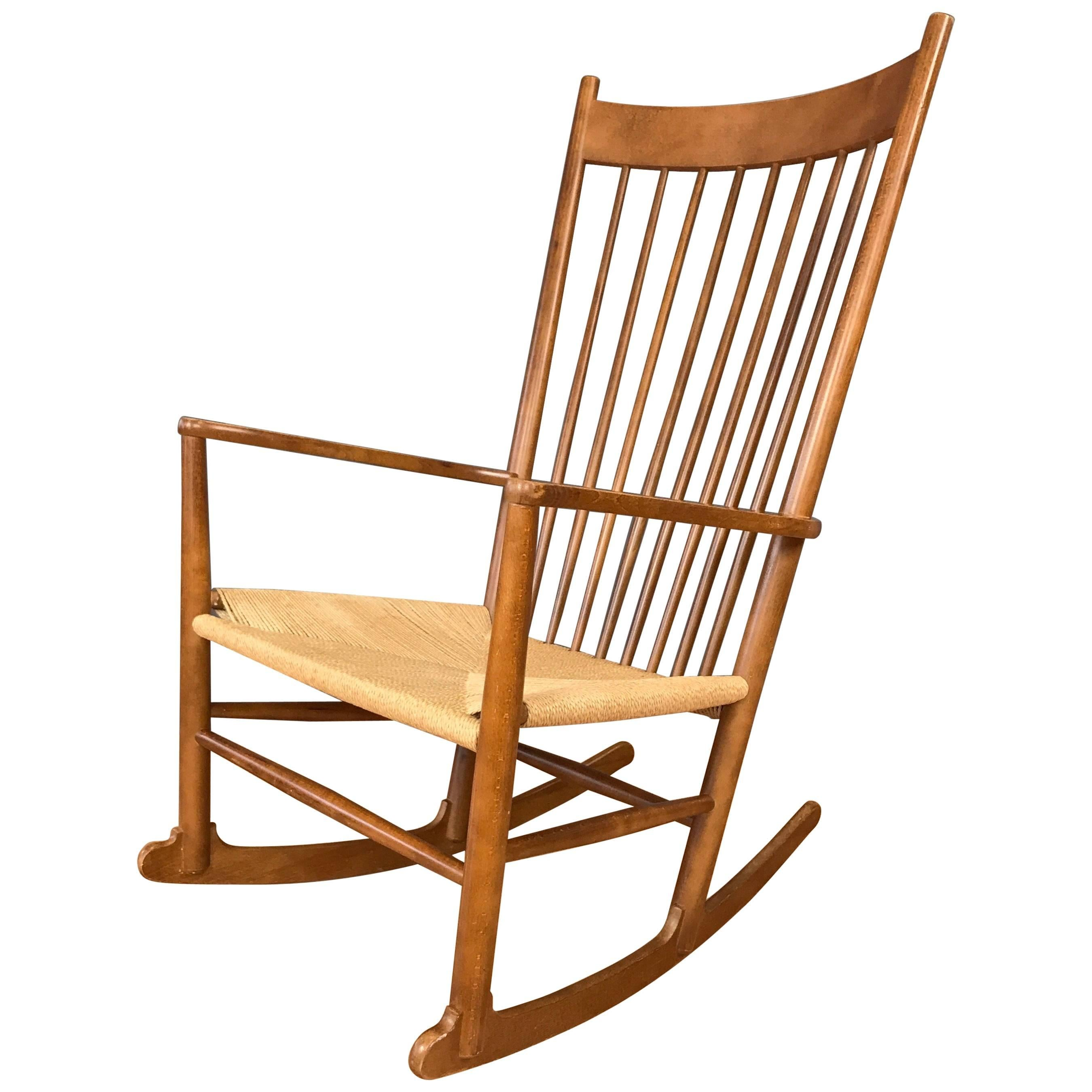 hans wegner rocking chair phil and ted high review vintage j16 beech at 1stdibs for sale