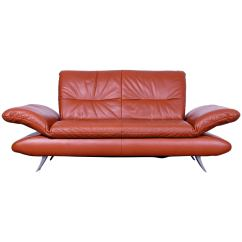 Red Leather Two Seater Sofa Corduroy Bed Koinor Rossini Designer Seat Orange Function Modern For Sale At 1stdibs