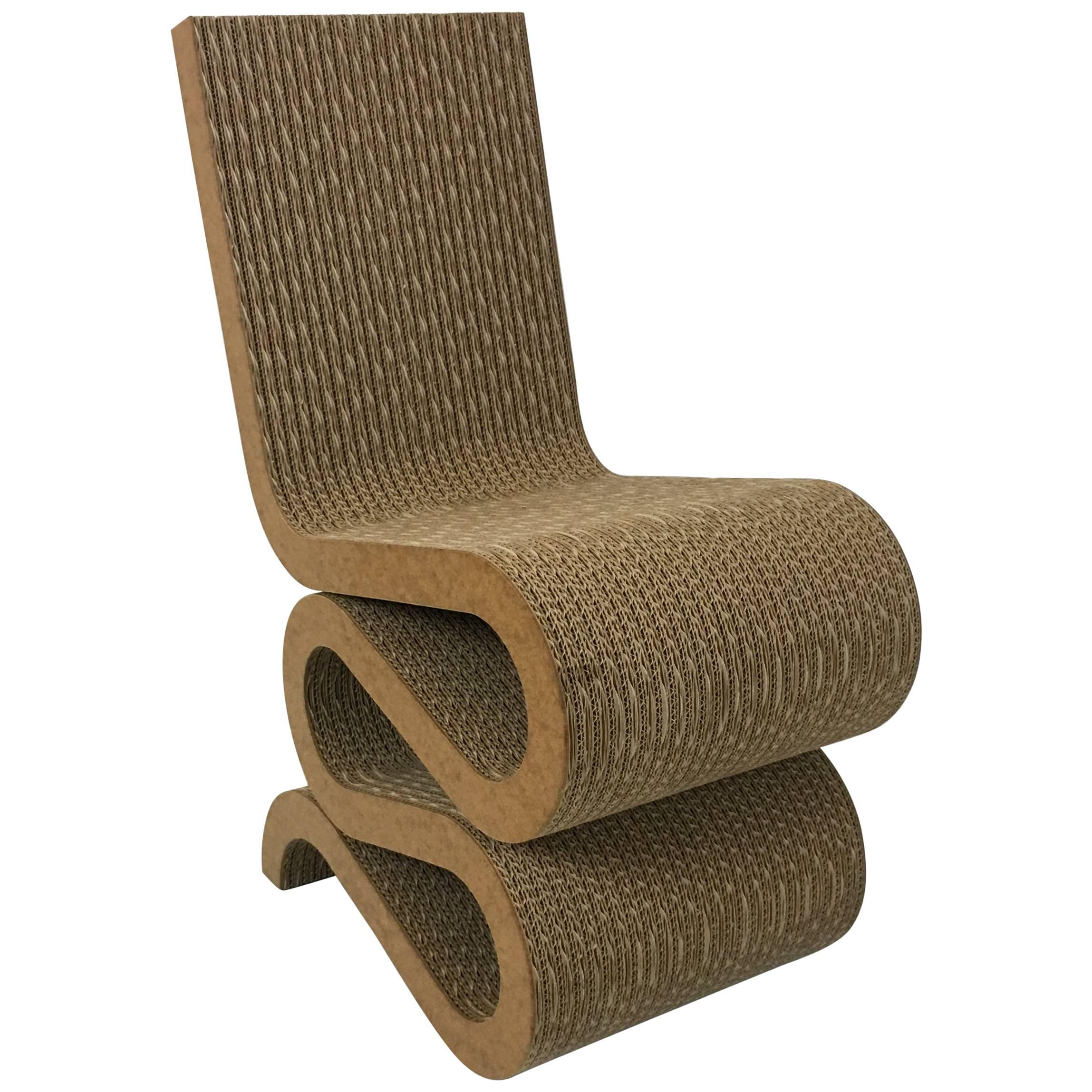 Body Built Chairs Rare Original Frank Gehry Easy Edges Cardboard Contour Chair