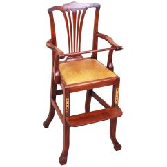 Antique High Chairs Wicker Indoor Dining Georgian Mahogany Childs Chair For Sale At 1stdibs