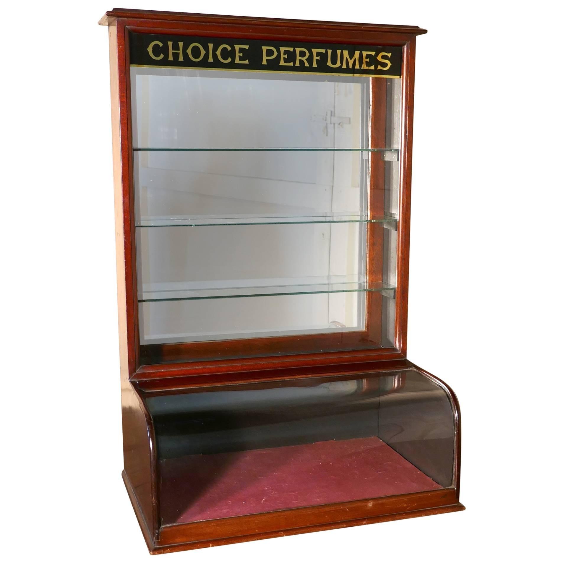 Victorian Mahogany Chemists Perfume Shop Display Cabinet