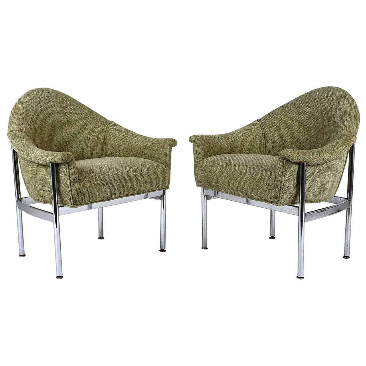 contemporary lounge chairs burgundy chair covers wedding pair of mid century modern for sale at 1stdibs