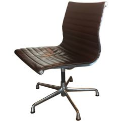 Office Chair Herman Miller Brown Leather Dining Chairs Modern Eames Swivel Aluminum Group At For Sale