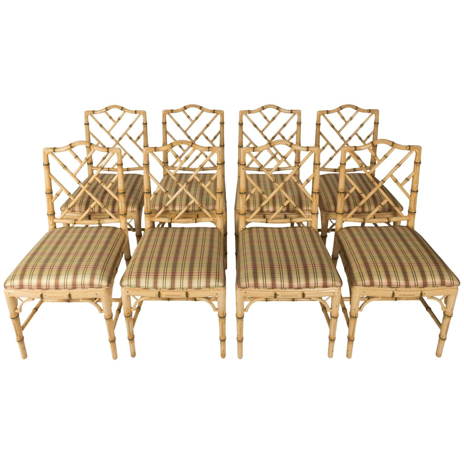 bamboo dining chair folding resin chairs set of eight faux at 1stdibs for sale