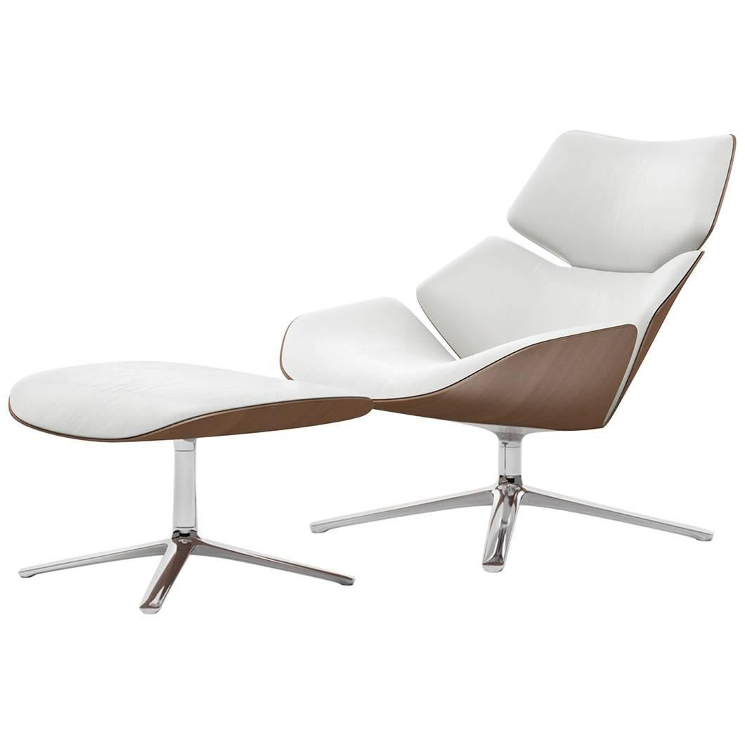 swivel lounge chairs outdoor for sale cor shrimp chair and ottoman in fabric or leather with wooden back