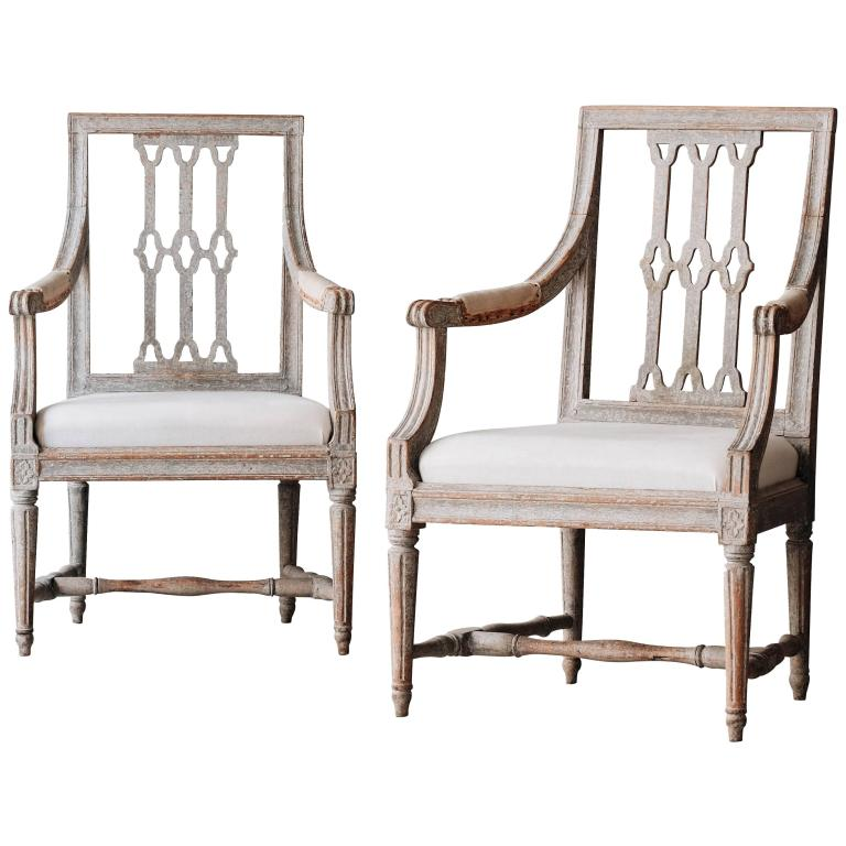 Pair of Swedish Gustavian Armchairs, 1790 Met Gala