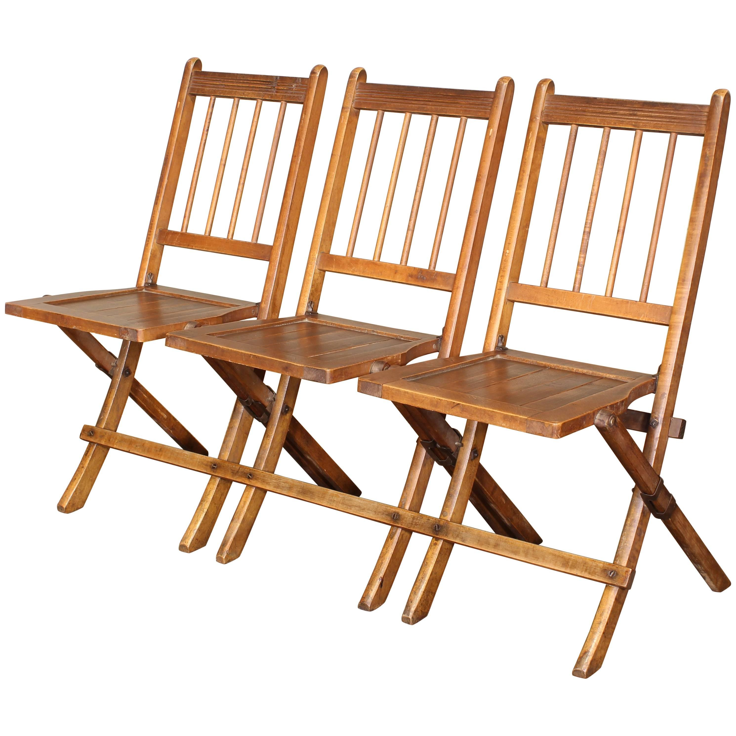 folding chairs for sale best massage vintage set of three tandem stadium seats bench