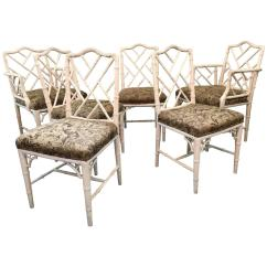 Bamboo Dining Chair Spandex Covers Aliexpress Chinese Chippendale Faux Chairs Set Of Six At 1stdibs For Sale