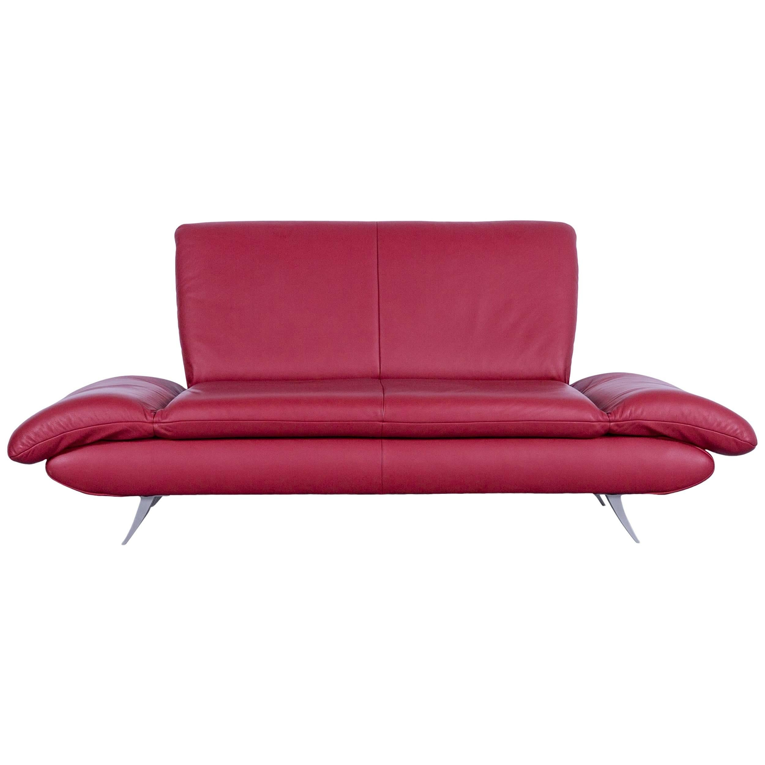 red leather two seater sofa mattresses for beds canada koinor rossini designer seat in function modern sale at 1stdibs