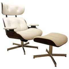 Selig Eames Chair Black And White Chairs Leather Swivel Lounge Ottoman At 1stdibs For Sale