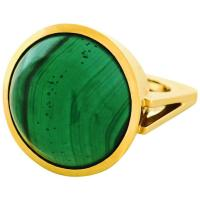Modernist Malachite Gold Ring For Sale at 1stdibs