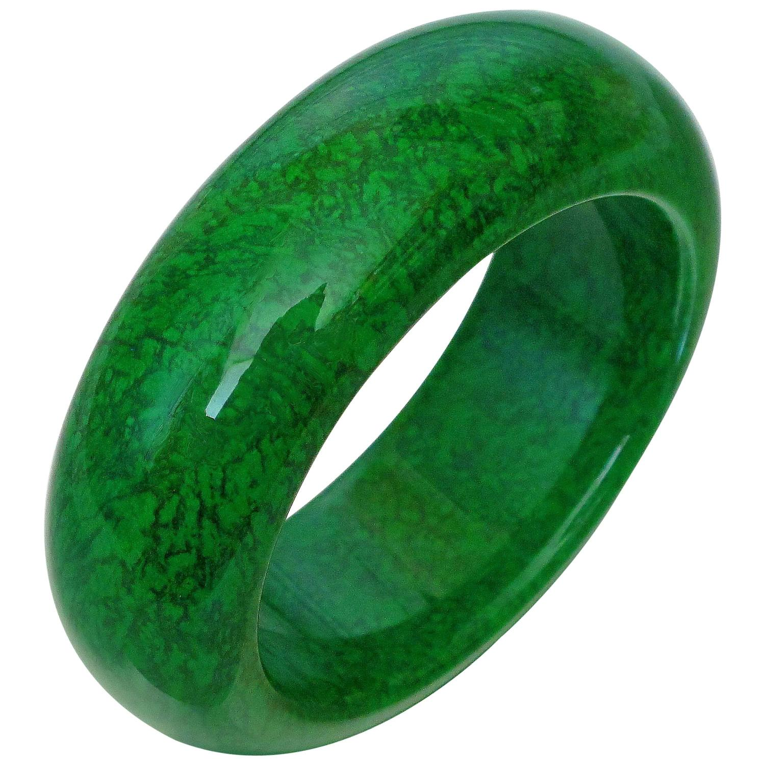 Natural Maw Sit Sit Jade Bangle Bracelet For Sale At 1stdibs