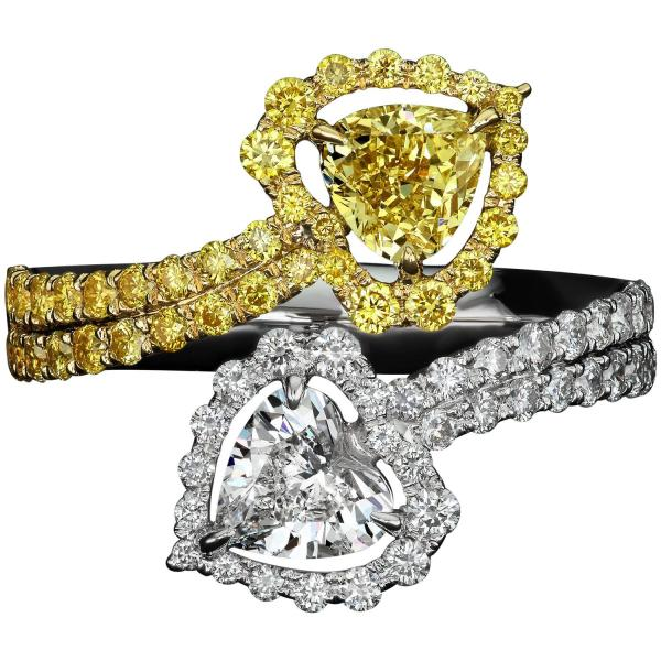 1.21 Carat Flawless Heart Shaped Diamond Two Color Gold Ring 1stdibs