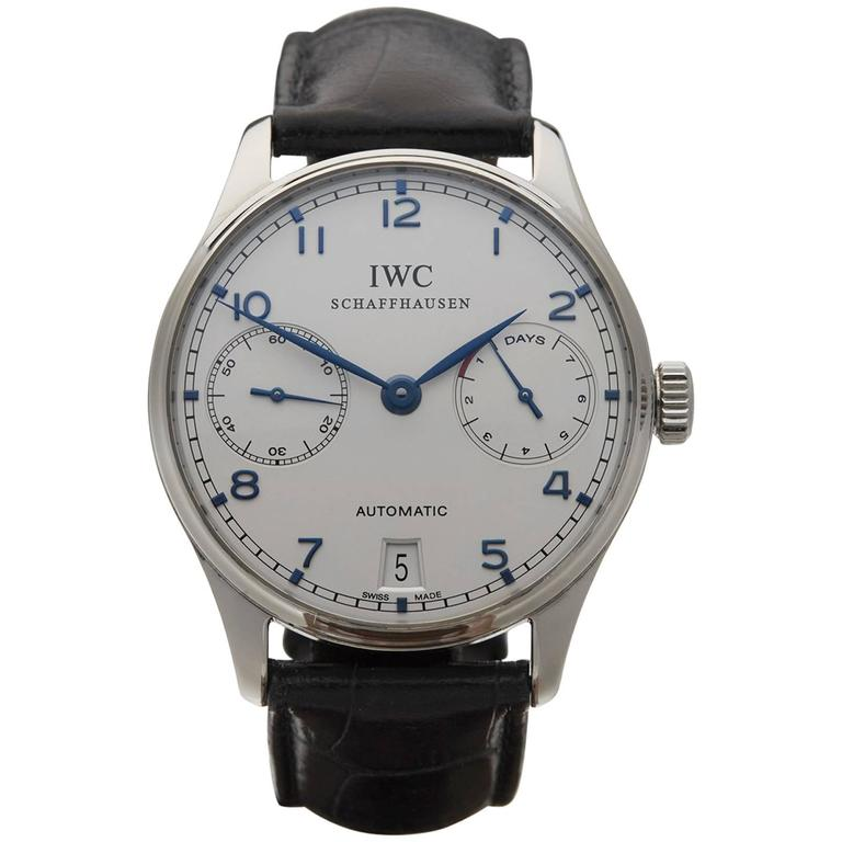 IWC Stainless Steel Portuguese 7 Day Power Reserve
