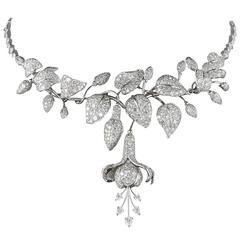 18th Century Rose Cut Diamond Rivière Necklace at 1stdibs