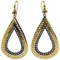 Ray Griffiths 18 KY Gold Silver 1.75 ctw Diamond Earrings ...
