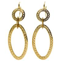 Ray Griffith Yellow Gold Gypsy Hoop Earrings at 1stdibs