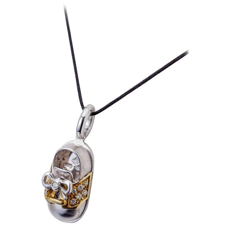 Aaron Basha Enamel Diamond Gold Ladybug Bracelet For Sale