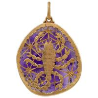 Buccellati Gold and Amethyst Scorpio Pendant at 1stdibs