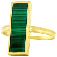 French Modern Malachite Gold Ring For Sale at 1stdibs