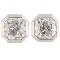 Tiffany and Co. Lucida Cut Diamond Platinum Earrings 2.88 ...