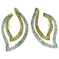 Diamond Cuff Earrings For Sale at 1stdibs
