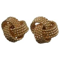 Tiffany and Co. 18k Gold Love Knot Twisted Stud Earrings ...