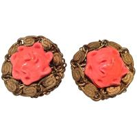 Vintage Miriam Haskell Earrings - 1950's For Sale at 1stdibs