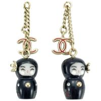Chanel Chinese Doll and Logo Earrings (Paris - Shanghai ...