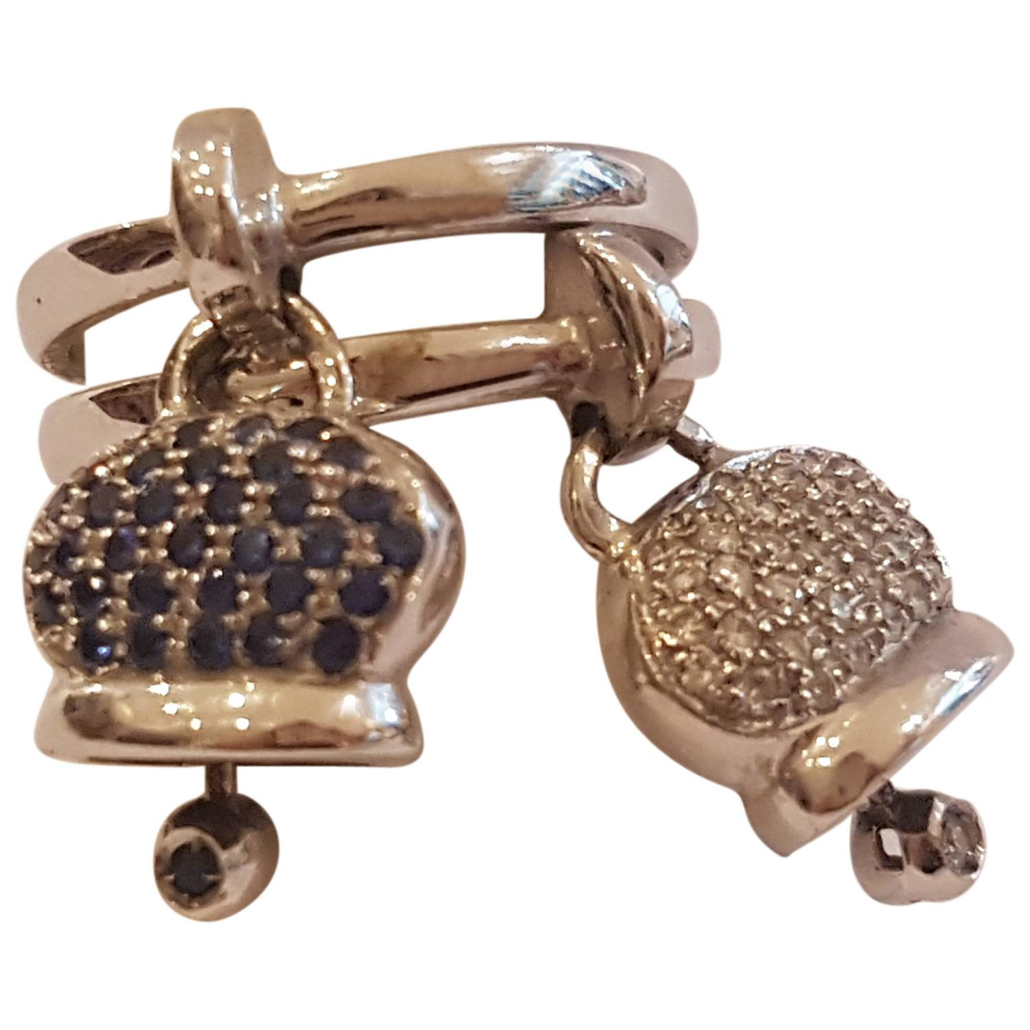 ring doorbell for sale pruning a plum tree diagram 18kt white gold sapphire and diamonds double capri bell