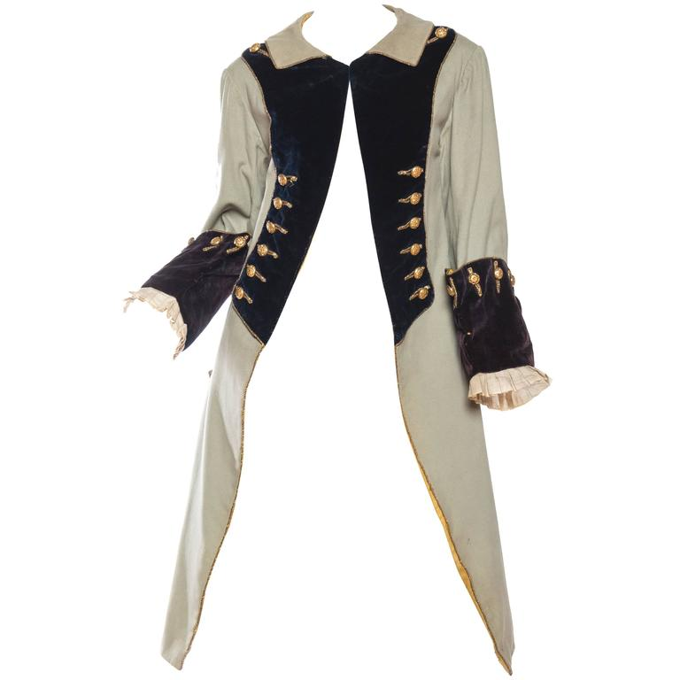 18th Century Style Victorian Era Frock Coat For Sale at 1stdibs