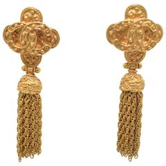 Chanel Vintage Tassel Drop Earrings 1994