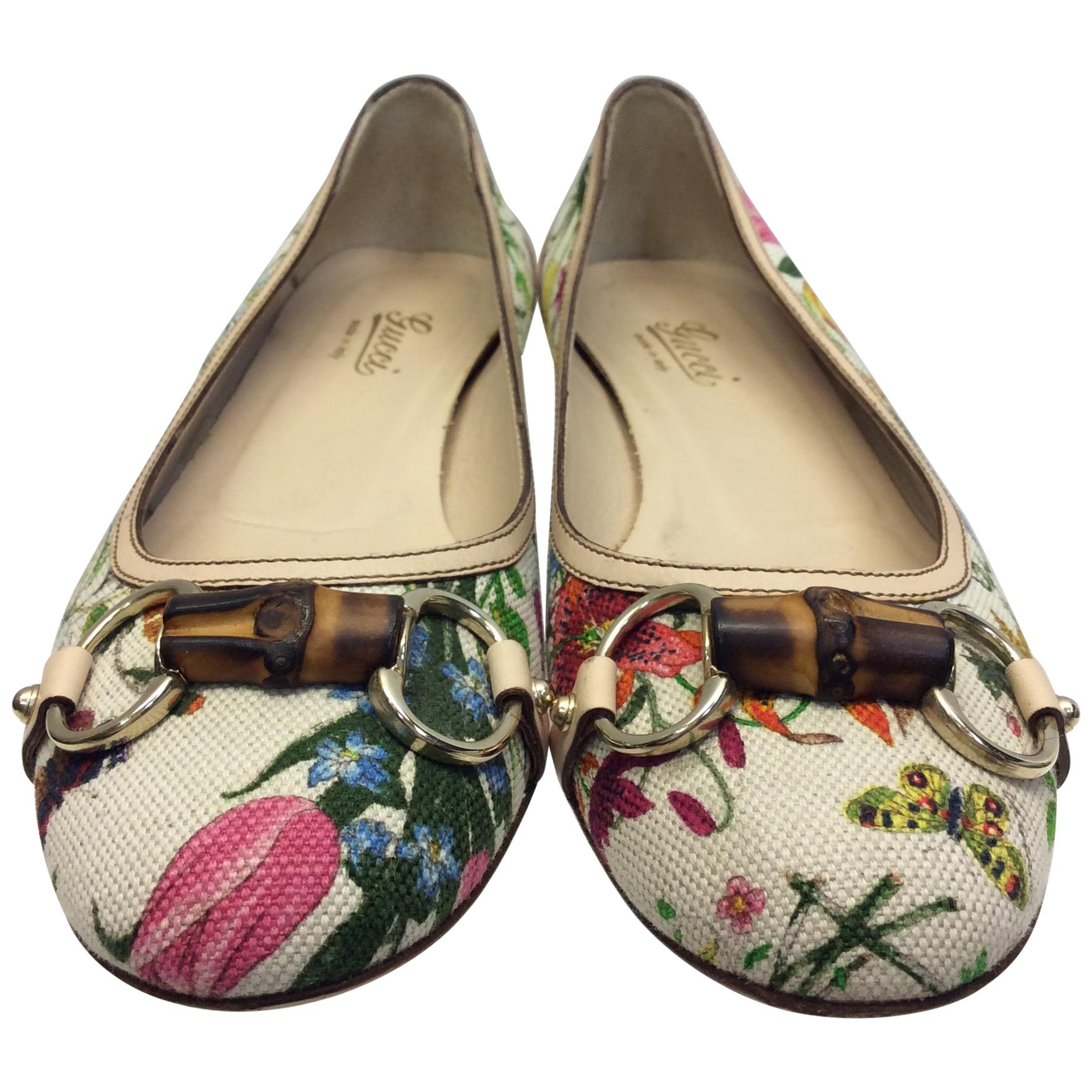 1429115ff1d Gucci Floral Print Ballet Flat For Sale At 1Stdibs