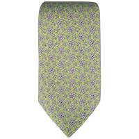 HERMES Tie - Lime Green Chainlink Print Silk Neck Tie For ...