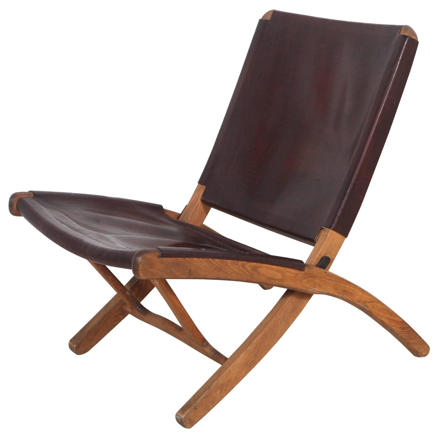 folding chair plans wood office support cushion italian leather and at 1stdibs