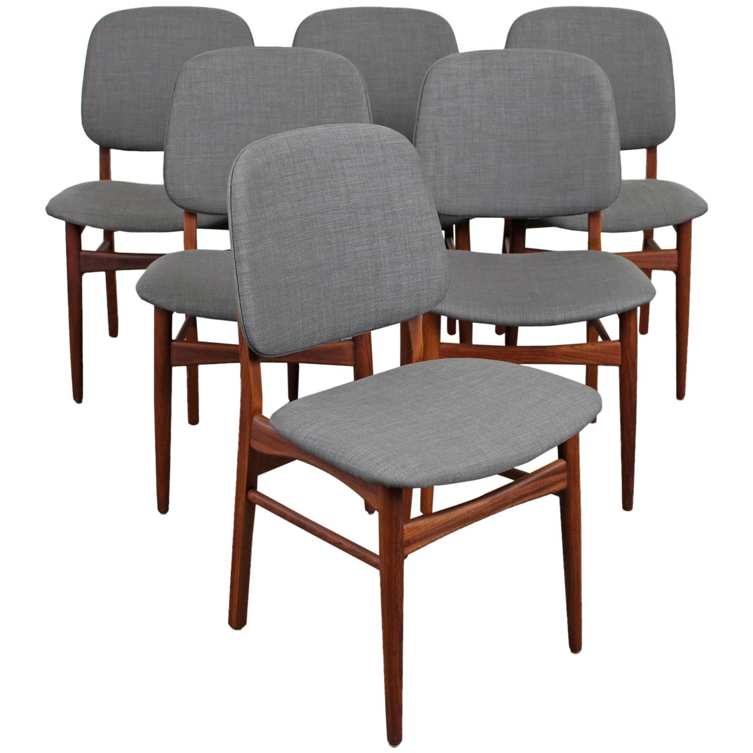 danish modern dining chair tub accent set of six mid century teak chairs at