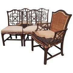 Chinese Chippendale Chairs Anna Chair Cover & Wedding Linens Rental Burnaby Bc Set Of Dining At 1stdibs