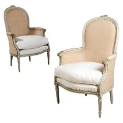 French Bergere Chair Wheelchair Vine A Fine Pair Of Neoclassical Armchairs At