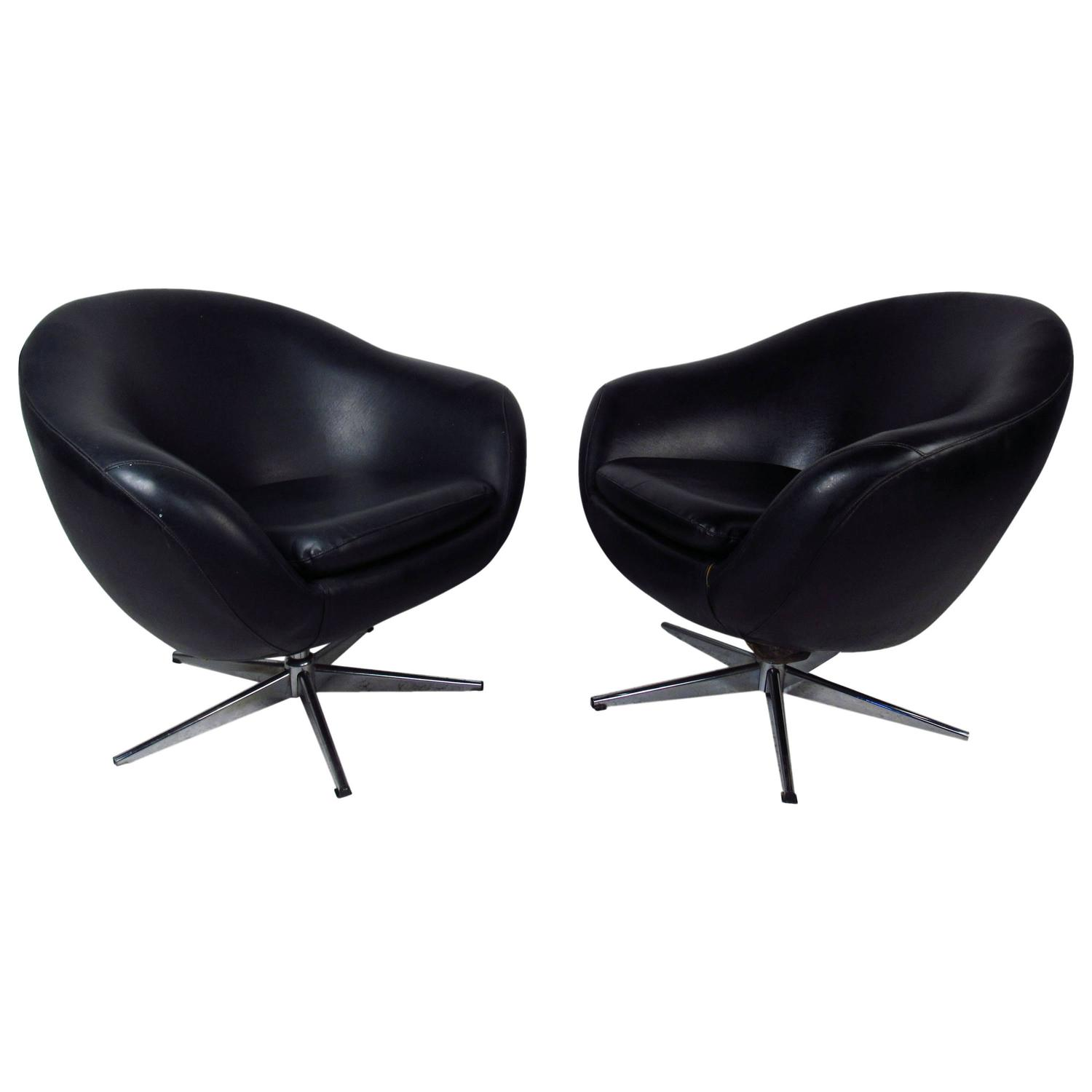 swivel chairs for sale navy chair cushions pair of overman pod at 1stdibs