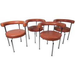 Mid Century Barrel Dining Chair Steel Base Modern Cassina Style Back Side Chairs At 1stdibs