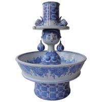 Unique Monumental Fountain by Bjrn Wiinblad in Blue Glaze ...