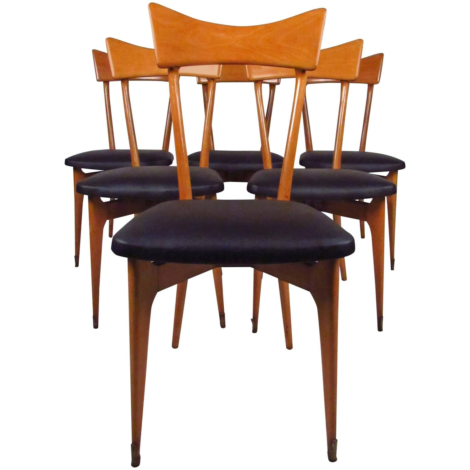 Italian Dining Chairs Set Of Mid Century Modern Italian Dining Chairs By Ico