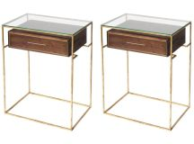 Pair of Floating Drawer Side Tables, Bedside Tables For ...