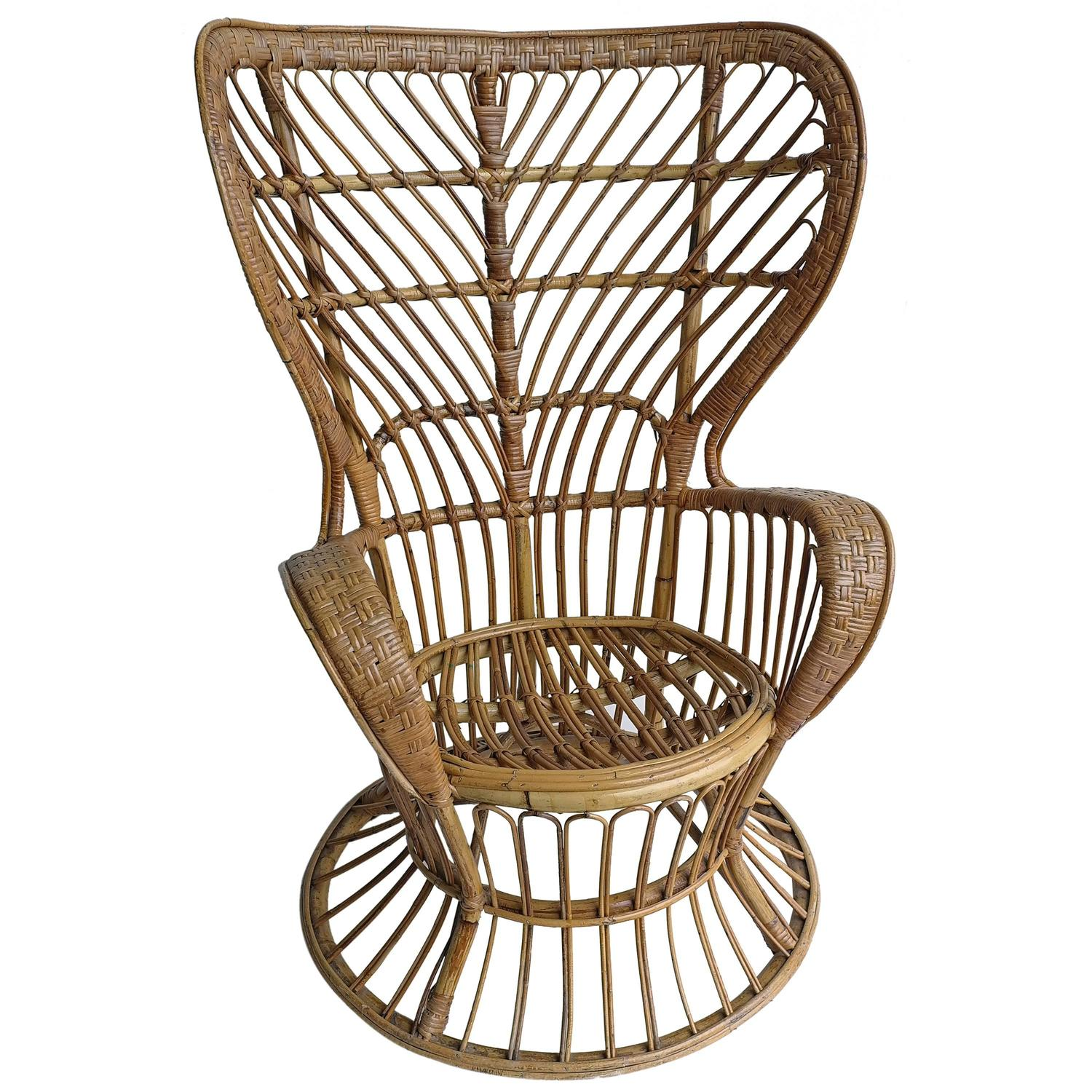 rattan wingback chairs paper chair covers high by gio ponti and lio carminati
